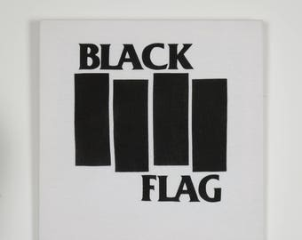 BLACK FLAG band t-shirt wall piece