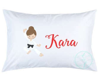 Personalized Custom Karate Girl Pillowcase