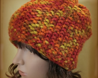 Loom Knit Brimless Hat Easy PATTERN Seed Stitch Beanie