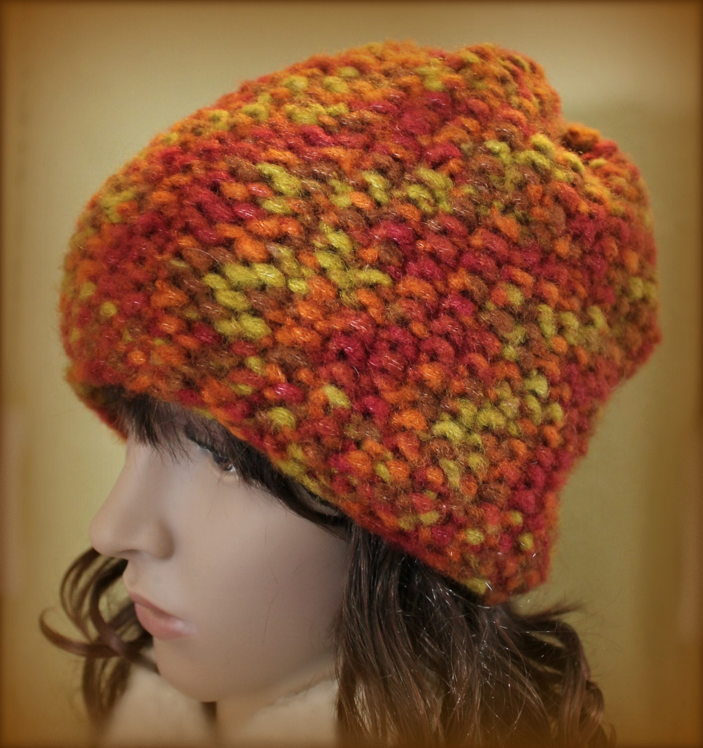 Loom Knit Brimless Hat Easy PATTERN Seed Stitch Beanie from LoomaHat ...