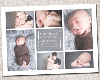 Girl Birth Announcement template for photographers INSTANT