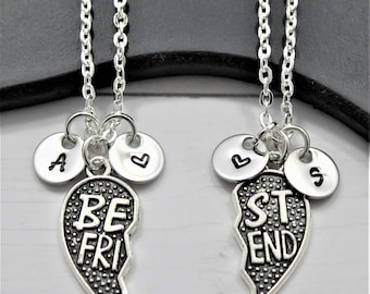 Best Friend Necklaces for 2 -  Matching Friendship Necklaces - Long Distance Friendship - Set of 2 - My Best Friend Necklace - Personalized
