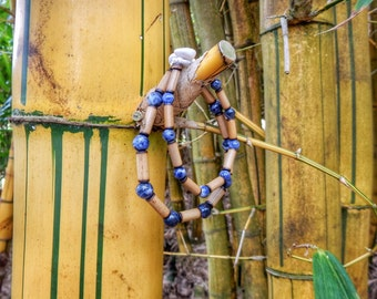 Kauai Bamboo Jewelry - Hawaiian Bamboo and Sodalite Bracelet