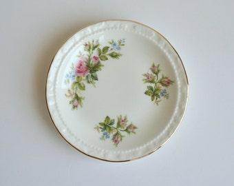 Royal Albert Moss Rose butter pat, pin dish - bone china - made in England