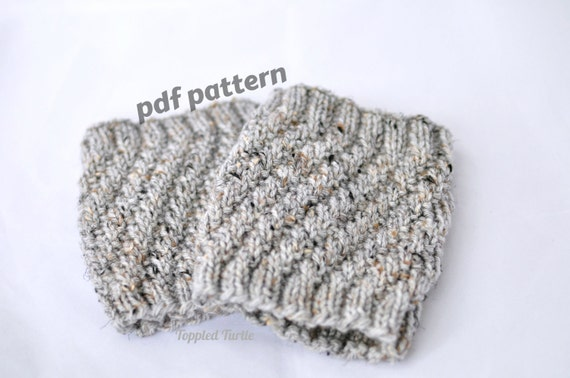 Pattern The Twist Knit Boot Cuff Pattern Knit Cuff Pattern