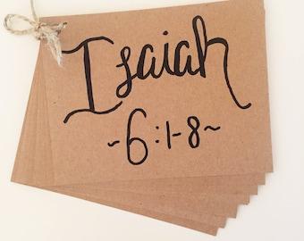 Isaiah 6 memory verse cards