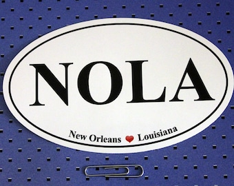 New Orleans Louisiana (NOLA) Oval Bumper Sticker