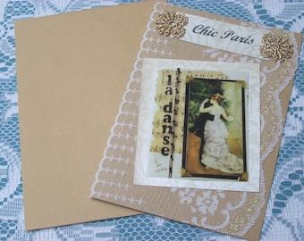 Handmade greeting card. Chic Paris card