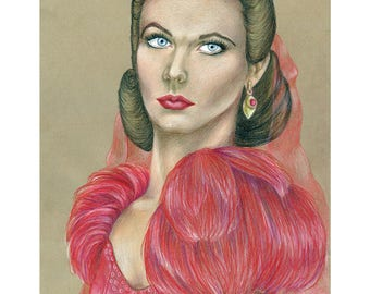 Scarlett O'Hara, Gone With the Wind,  Drawing, Movie Art, Poster