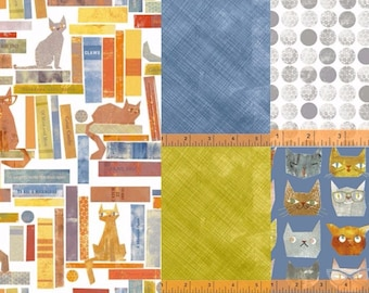 Bundle of Smarty Cats, by Maria Carluccio for Windham Fabrics