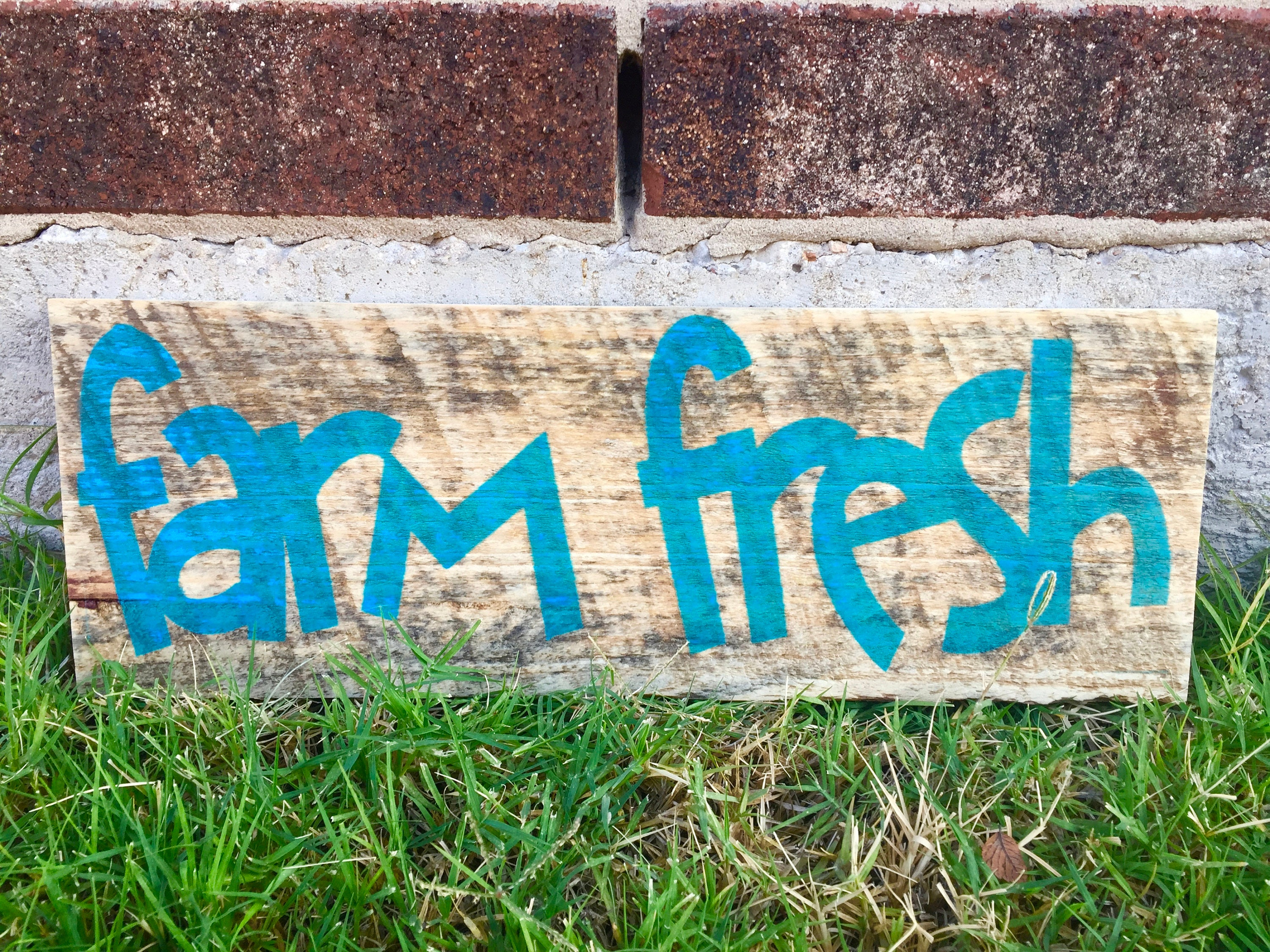 Farm Fresh Kitchen Sign. FREE SHIPPING