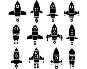 Rocket clipart, space clipart, spaceship clipart, rocket clip art, clipart set, outer space clipart, rocket,  rocket silhouette,