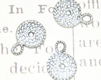 round rope silver-plated 15x11mm 4 charms