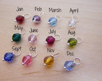 Add a Birthstone Charm - Swarovski Crystal - Upgrade - Add ON