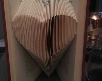 Folded Book Art/ Origami Heart