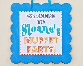 The Vintage Muppet Collection - Coordinate Door Sign from Mary Had a Little Party