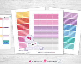 Colorful planner headers, header stickers planner stickers printable stickers erin condren planner stickers happy planner stickers printable