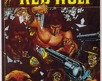 Marvel #1 Red Wolf Comic Card from 1984 FTCC