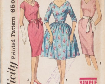 Simplicity 4347 / Vintage Sewing Pattern / Dress / Size 14 Bust 34