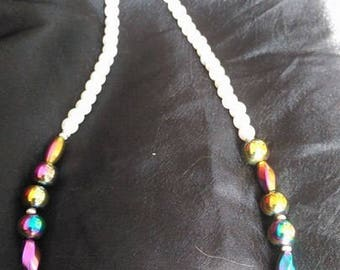 Daughter spelled in morse code necklace