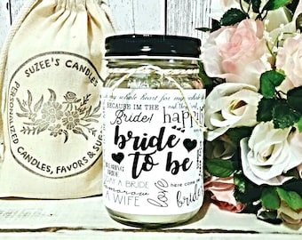 Bride to Be Gift - Bride to Be Candle - Bride Candle - Bridal Shower Gift - Wedding Candle gift - Gift for the bride - Wedding Gift