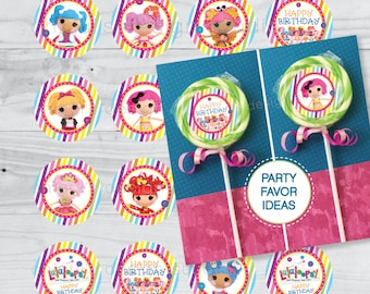 INSTANT DOWNLOAD - Lalaloopsy - 2 inch PRINTABLE Party Tags - Chiqui's Design Studio