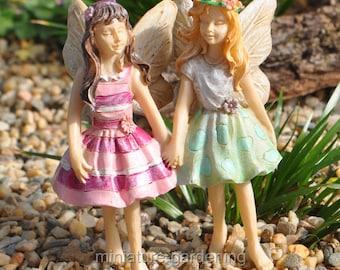 Fairy Addie & Maddie for Miniature Garden, Fairy Garden