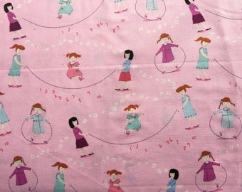 Hello Petal Aneela Hoey Jump Rope pink moda fabric FQ or more