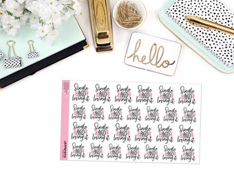 SINGLE and LOVING IT Paper Planner Stickers