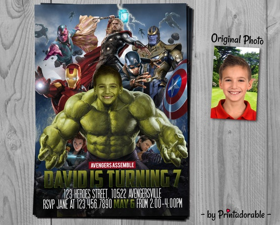 Hulk Invitation - Avengers Invite - The Hulk - Infinity Wars Invite - Hulk Invite - Avenger Invitation - Hulk Printables - Incredible Hulk