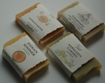 Shampoo bar sample / trial size bars 1 oz each for all hair types Indian Summer, Marigold Blonde, Mermaid's garden, Chamomile