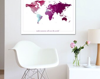 World map poster printable wall art illustration graphic world map poster printable wall art illustration graphic design print poster travel maps geography gift home decor memories instant download gumiabroncs Choice Image