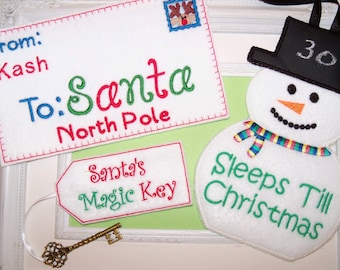 Ideas for an elf personalized  Santa Letter, Snowman Countdown, Santa Stop Here