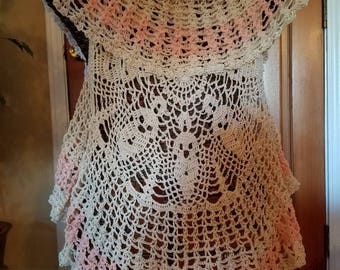 Crochet Circle Vest - size small