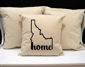 Idaho Home Pillow, Idaho Pillow, home pillow, pillow gift, Idaho gift, Envelope Pillow Cover, state pillow, ID pillow, 20x20 16x16 pillow
