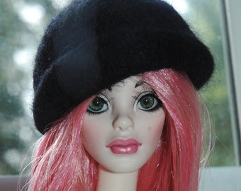 Ebony Black Cloche