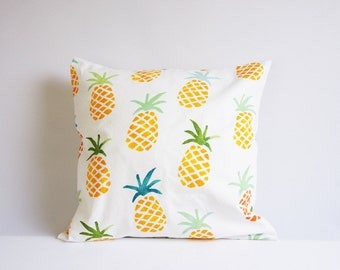 Pineapple pillow cover,  pinapple cushion cover, throw pillow cover, different sizes, ananas, summer print, porch decor