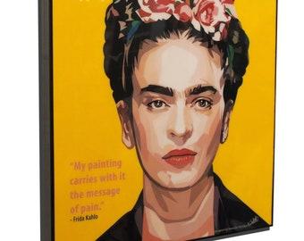 Frida Kahlo Art Poster Plaque Framed Canvas Print Painting