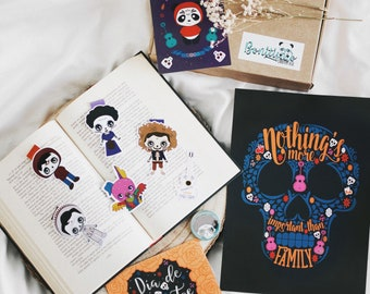 Fandom Box - Coco, bookish gifts, geek box, fan artworks, Pixar, Disney, bookmerch