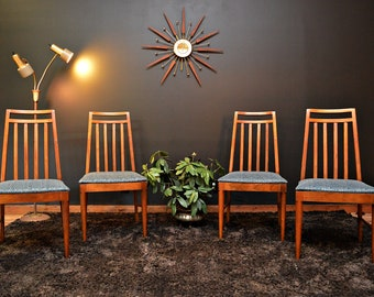 Mid Century Frank Lloyd Wright Style Dining Chairs - Set of 4