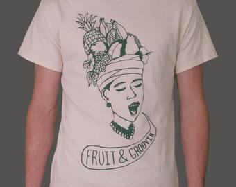 FRUIT & GROOVIN' Screenprinted T-Shirt