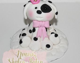 Dalmatian Puppy Edible cake Topper