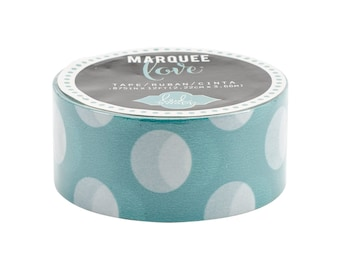 """Teal Polka Dot Washi Tape, 7/8"""" (22mm) x 12 Feet (3.6 Meters) Decorations, Gift Wrapping, Scrapbooking, Card-Making, Wedding"""