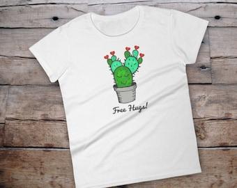 Cactus shirt, cactus tshirt, cactus shirt women, shirt with saying, cactus tee, cactus tee women, tshirt with saying women, free hugs, cacti