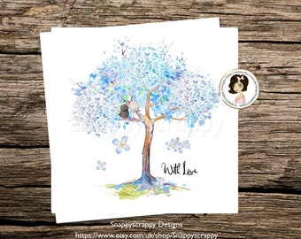 Cherry Blossom Greeting Card, With Love, Any Occasion, Cherry Blossom