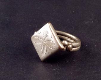 African Fulani tribal ring from the Sahel, african ring, ethnic ring, african jewelry, african silver, silver fulani ring