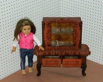 """Handmade Wooden Doll Buffet Fit for 18"""" Doll"""