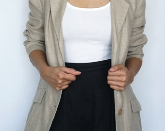 Vintage Style & Co Collection Linen Blazer