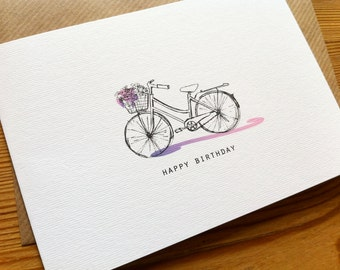 VINTAGE BICYCLE Birthday Card