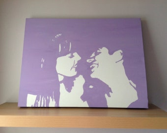 Couples portrait, stencil graffiti, art work